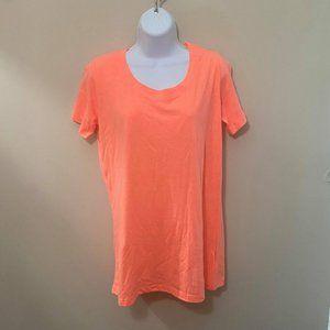 NWOT 2/$25 Zenana Neon Orange T-Shirt (S, M, L)
